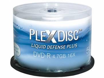 PlexDisc 52x 700MB Liquid Defense Plus Glossy White Inkjet Hub Printable CD-R