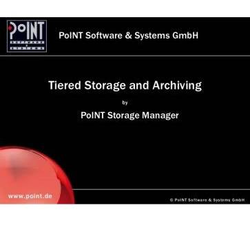 PoINT Storage Manager - Archive Edition